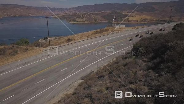 Motorcycle Sheriffs Drone View
