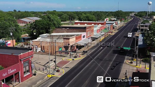 Main Street in a Small Town, Quiet Sunday Afternoon, Calvert, Texas, USA