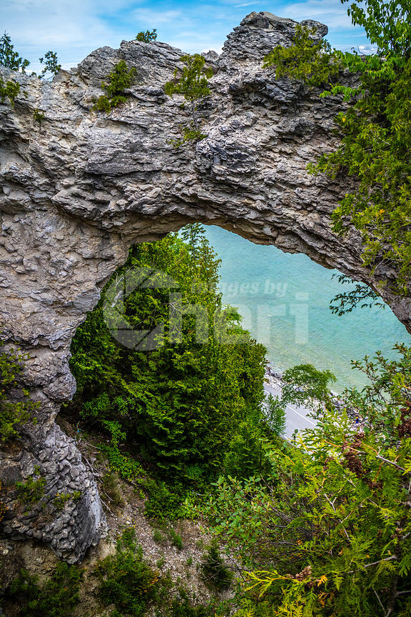 Arch Rock in Mackinac Island St. Ignace, Michigan