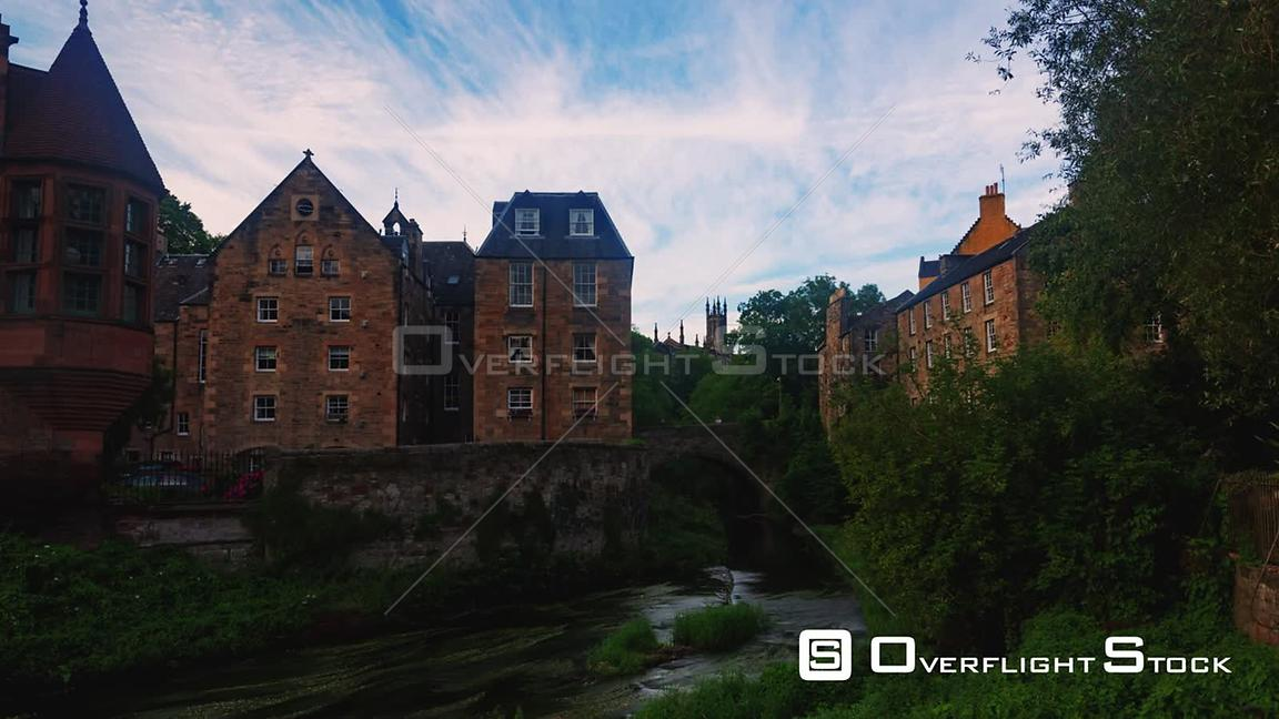 Timelapse View of Dean Village in Edinburgh Scotland