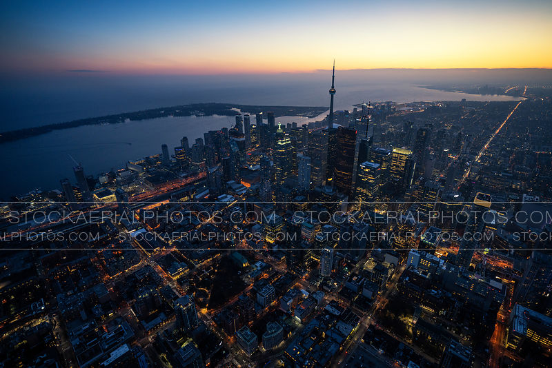 Downtown Toronto after sunset