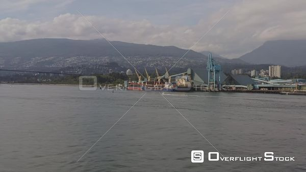 Vancouver BC Canada Low vantage full harbour panoramic