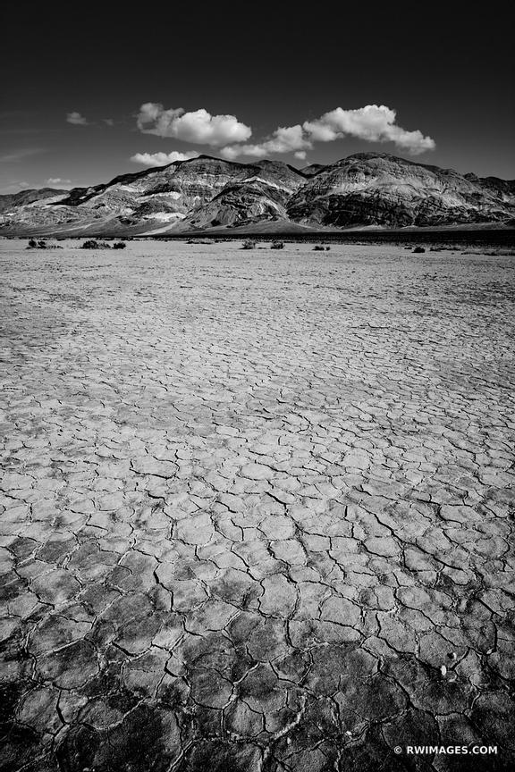 PANAMINT PLAYA DEATH VALLEY CALIFORNIA AMERICAN SOUTHWEST DESERT VERTICAL BLACK AND WHITE LANDSCAPE
