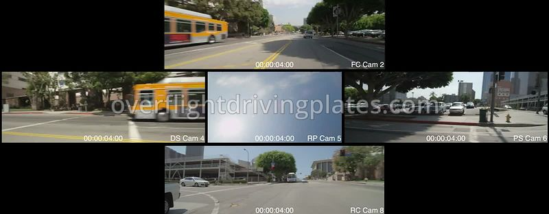 North of Downtown  Los Angeles California USA - Driving Plate Preview 2012