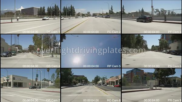 West Colorado Boulevard  Pasadena California USA - Driving Plate Preview 2012