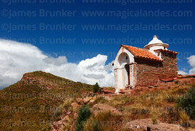 Chapel on summit of Cerro Waywasi, Caquiaviri, La Paz Department, Bolivia