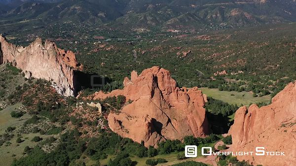 South Gateway Rock, and Cathedral Rock, Colorado Springs, Colorado, USA