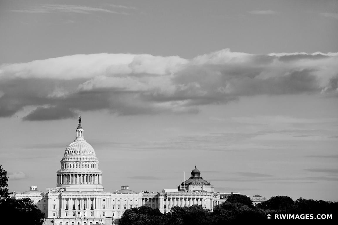 US CAPITOL WASHINGTON DC BLACK AND WHITE HORIZONTAL