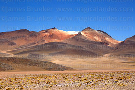 View of Cerro Nelly volcano from west, Eduardo Avaroa Andean Fauna National Reserve, Bolivia