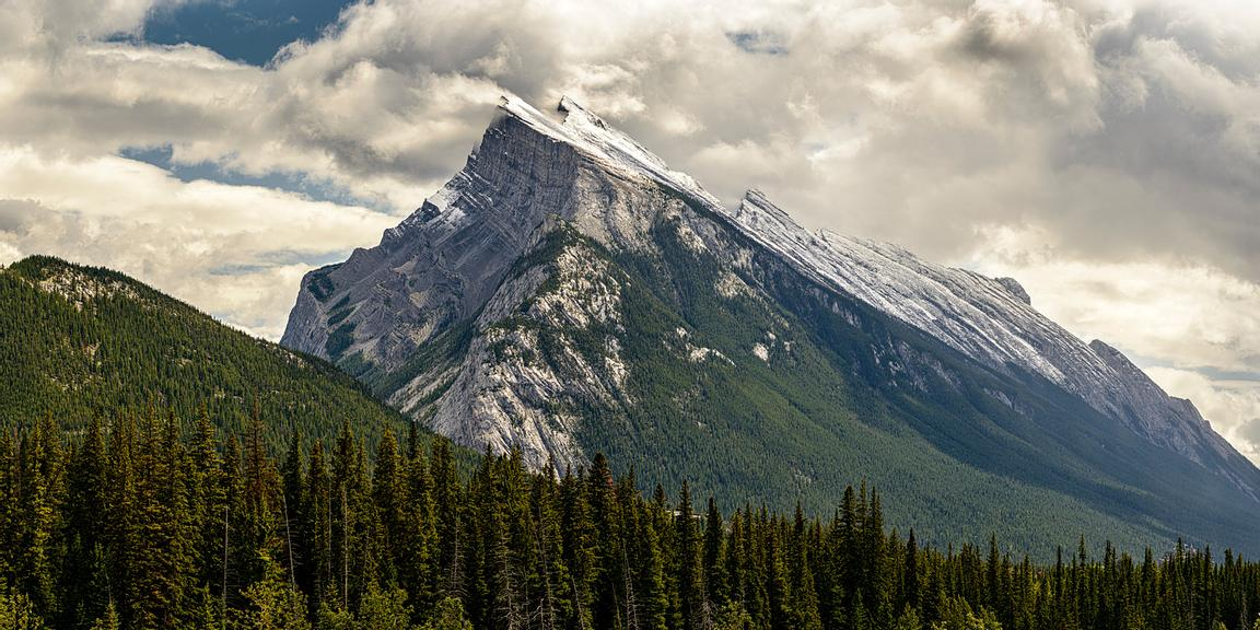 Mount Rundle near Banff, Alberta.