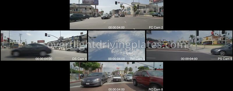 Korea Town  Los Angeles California USA - Driving Plate Preview 2012