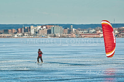 Red Ice Sailor on Presque Isle Bay/Erie Harbor- Erie PA
