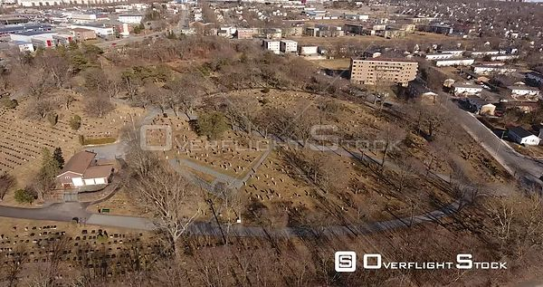Drone Video Fairview Cemetery Halifax Nova Scotia