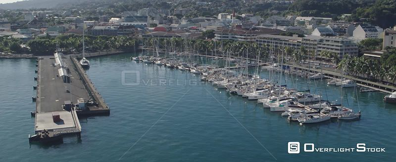 Drone video Papeete City Tahiti French Polynesia