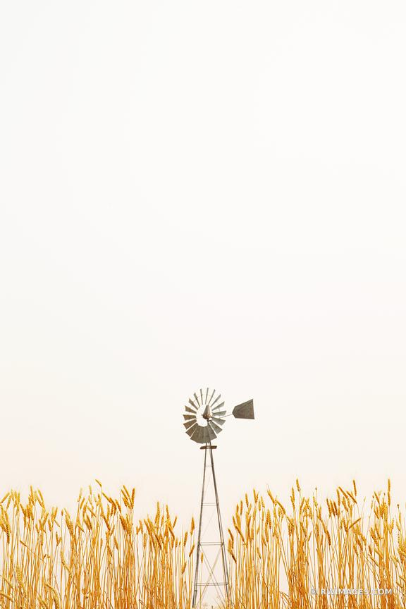 FARM WINDMILL WHEAT FIELD PALOUSE EASTERN WASHINGTON STATE COLOR VERTICAL