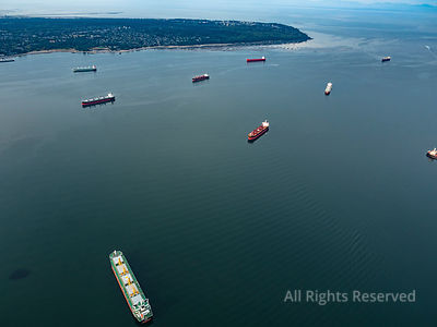 Freighters on English Bay Vancouver