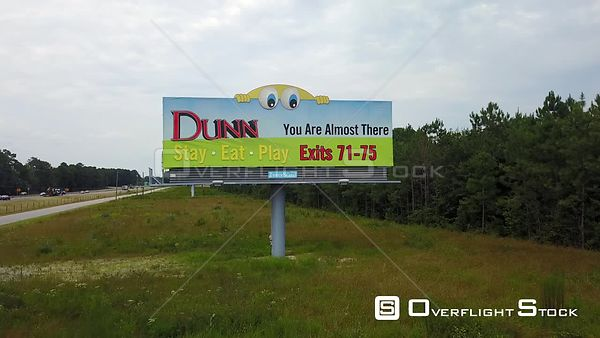 Drone Video Sign Dunn North Carolina