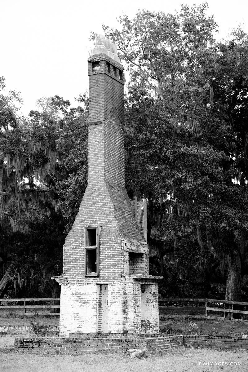 DUNGENESS CUMBERLAND ISLAND GEORGIA BLACK AND WHITE