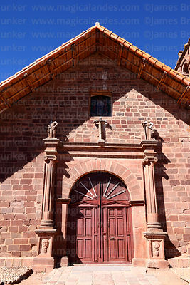 Main entrance of San Pedro church, Tiwanaku, La Paz Department, Bolivia