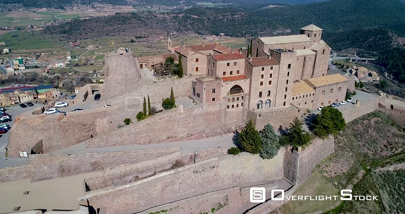 Aerial view of Cardona Castle, Cardona, Catalonia, Spain
