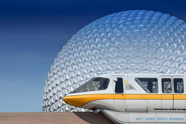 Monorail Yellow and Spaceship Earth | Color Print