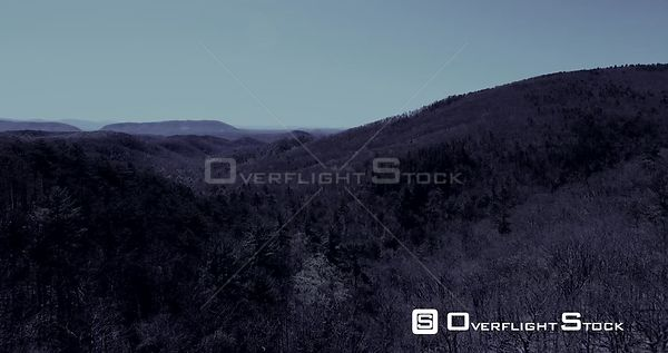 Virginia Mountains as dusk