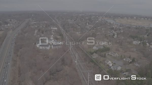 Drone Video Village of Southport Fairfield Connecticut - V-Log