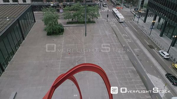Federal Building and Courtyard Downtown Chicago Drone Video