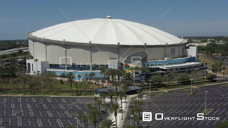 Aerial Footage St. Petersburg Florida Tropicana Field Covid 19 Empty Lot