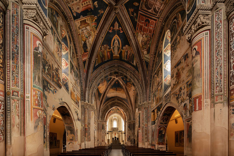 Interior of the Basilica Santa Catarina d'Alessandria  in Galatina