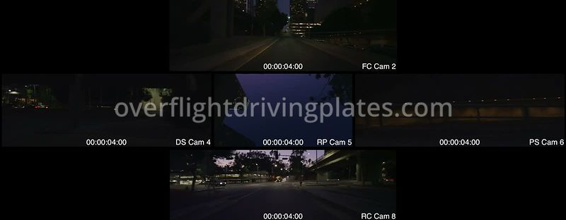 Downtown Twilight  Los Angeles California USA - Driving Plate Preview 2012