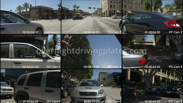 Old Pasadena Colorado Boulevard  Pasadena California USA - Driving Plate Preview 2012