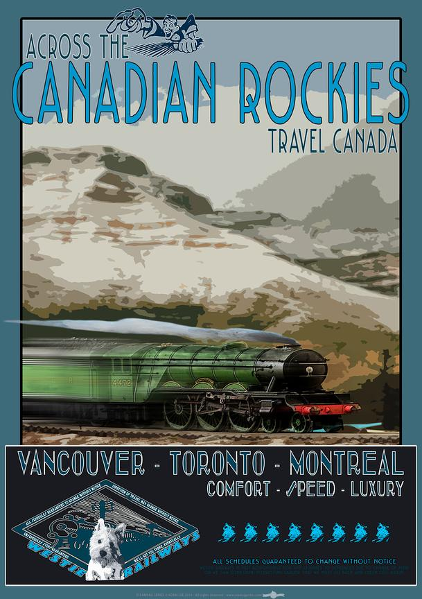 Westie Railways travel poster