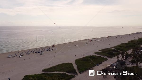Aerial Video Beautiful Day at the Beach