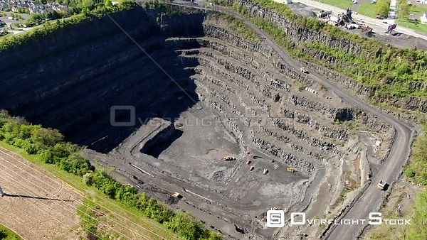 Montgomeryville, Pennsylvania Above an Open Pit Gravel Mine