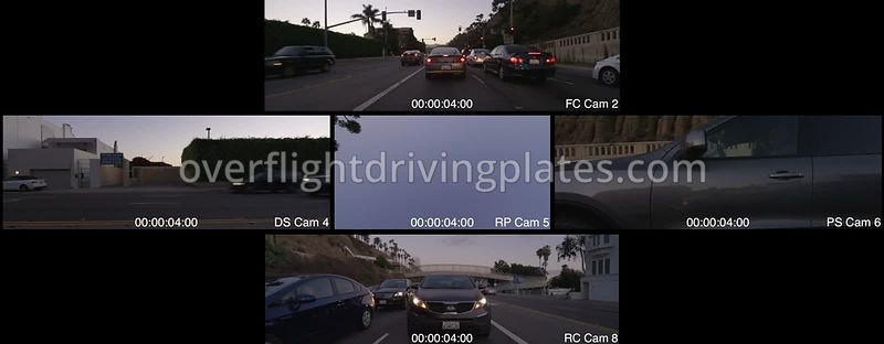 Highway 1 Twilight  Santa Monica California USA - Driving Plate Preview 2012