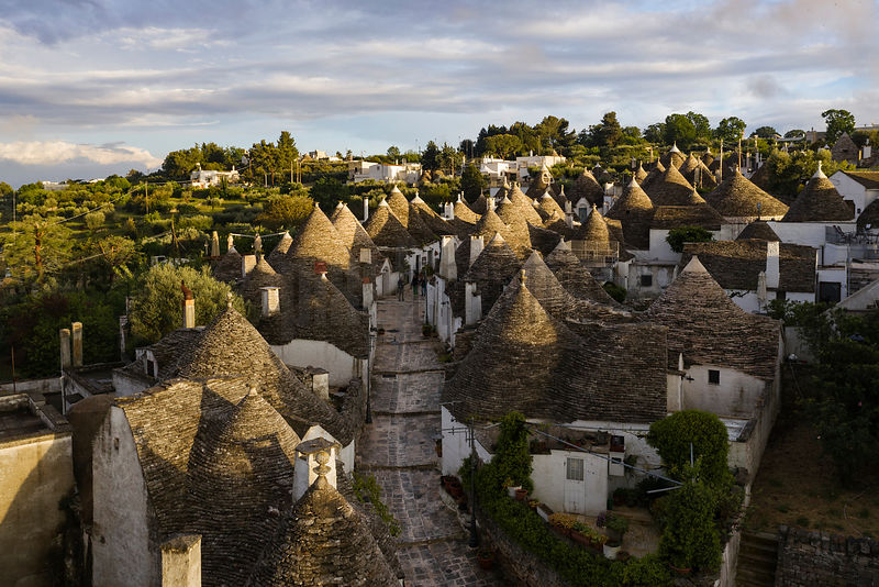 Aerial View of the Trulli District