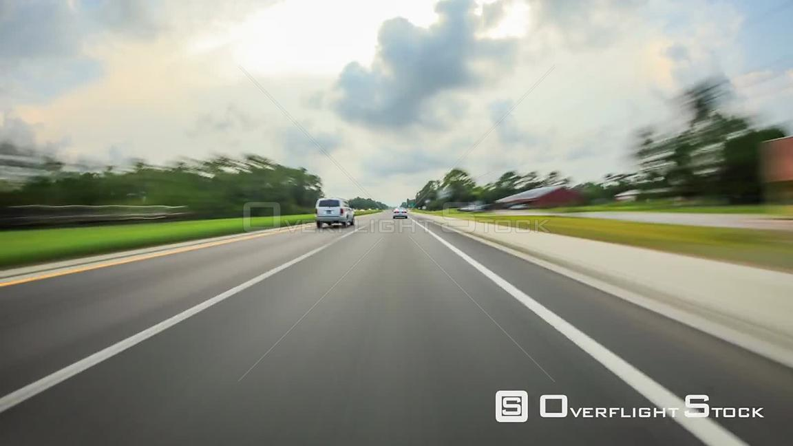 Driving time lapse through west Florida.