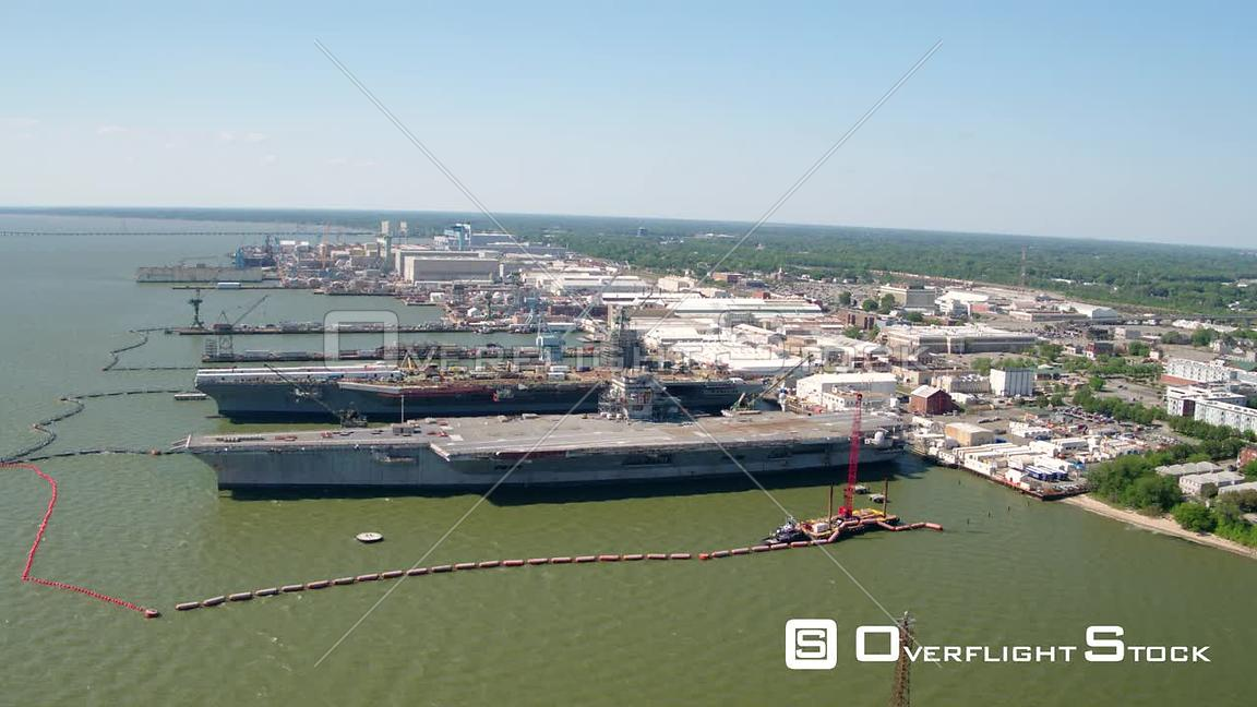 Orbit of Aircraft Carriers at Newport News Shipbuilding in Virginia