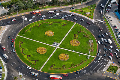 Traffic Circle Capital City Lima Peru
