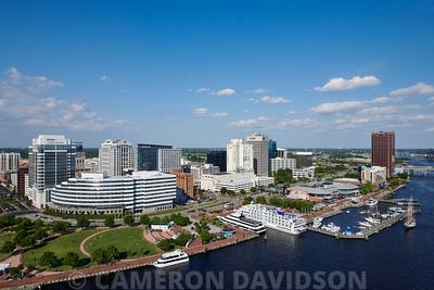 Aerial photograph of downtown Norfolk Virginia