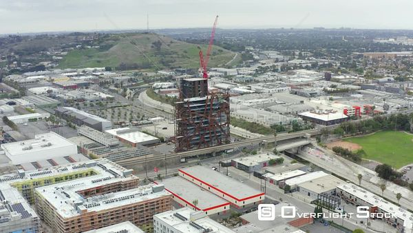 Commercial and Residential Areas Los Angeles at Culver City California Drone Aerial View