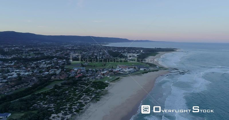 Towradgi Beach and Businesses NSW Australia