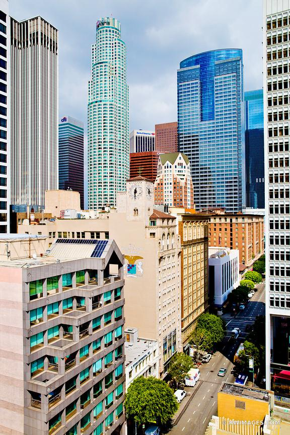 DOWNTOWN LOS ANGELES CALIFORNIA COLOR VERTICAL