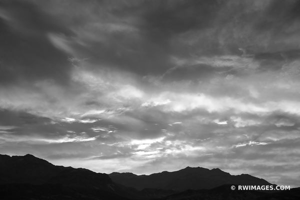 BEFORE SUNRISE  DEATH VALLEY CALIFORNIA AMERICAN DESERT SOUTHWEST BLACK AND WHITE