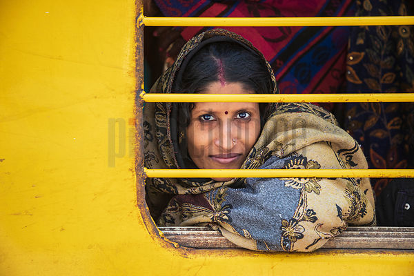 Portrait of a Woman from Bihar Returning Home from Delhi