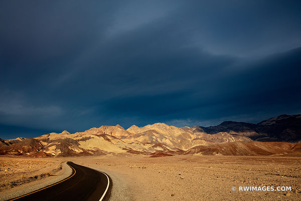SUNSET ARTISTS DRIVE DEATH VALLEY CALIFORNIA