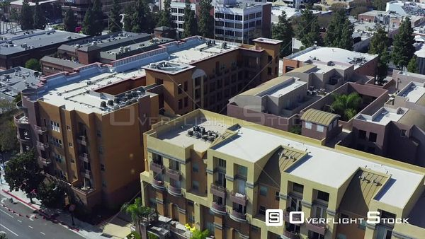 Drone Aerial View Apartment Buildings Burbank California