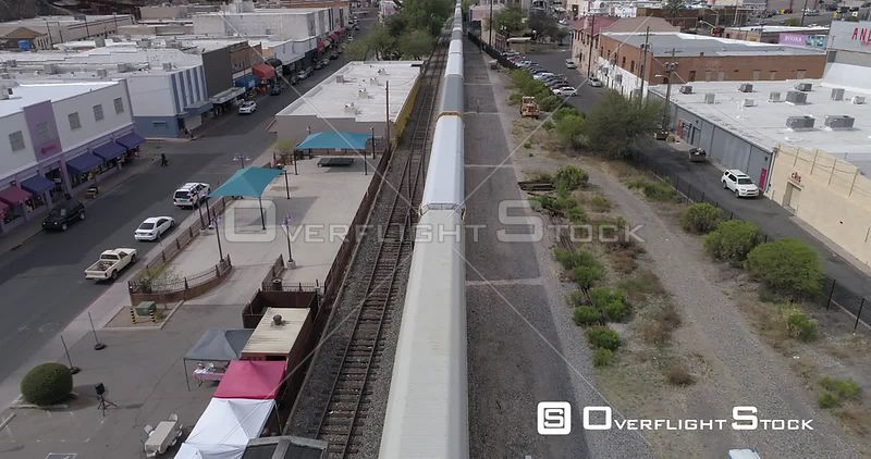 Drone Video Border Train Nogales Arizona Sonora Mexico