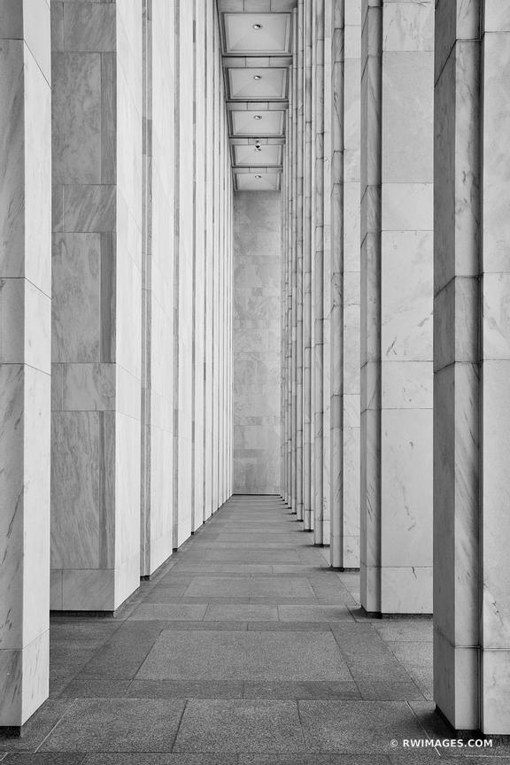 JAMES MADISON MEMORIAL BUILDING LIBRARY OF CONGRESS COLUMNS WASHINGTON DC BLACK AND WHITE VERTICAL